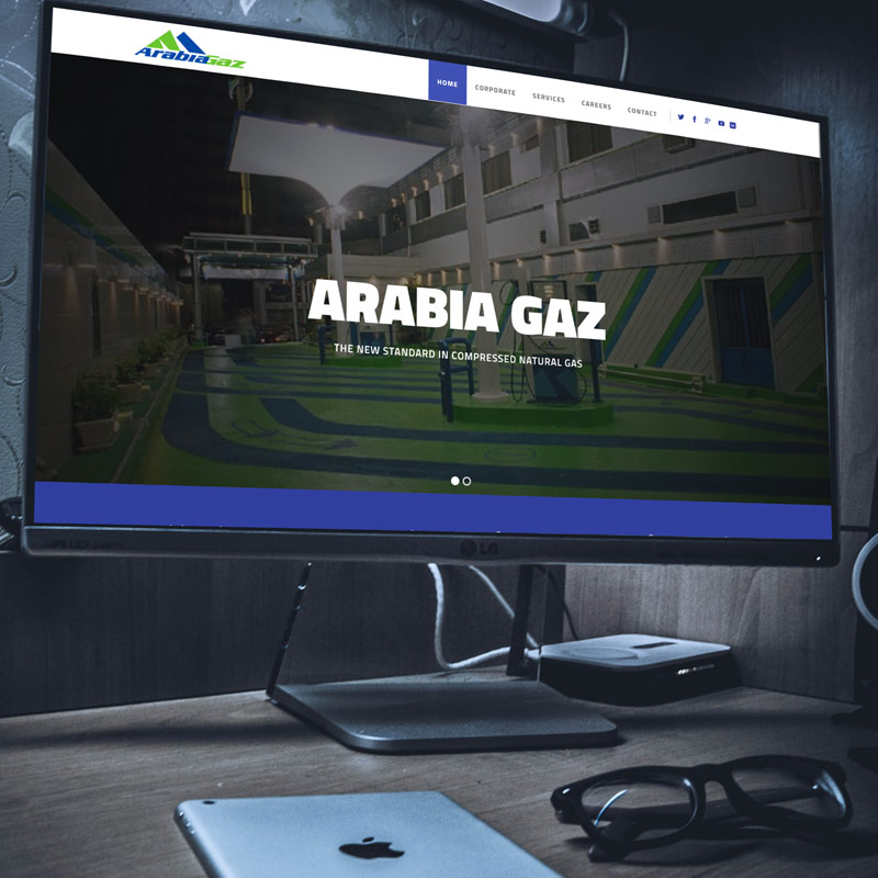 Arabia Gaz Website Design and Development