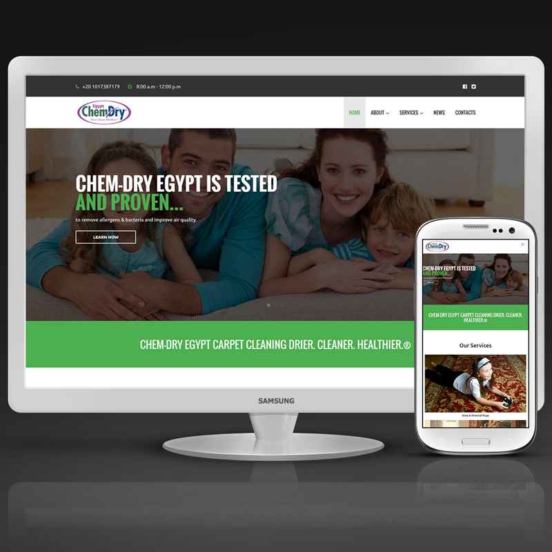 Chemdry Egypt Website #Design and #Development