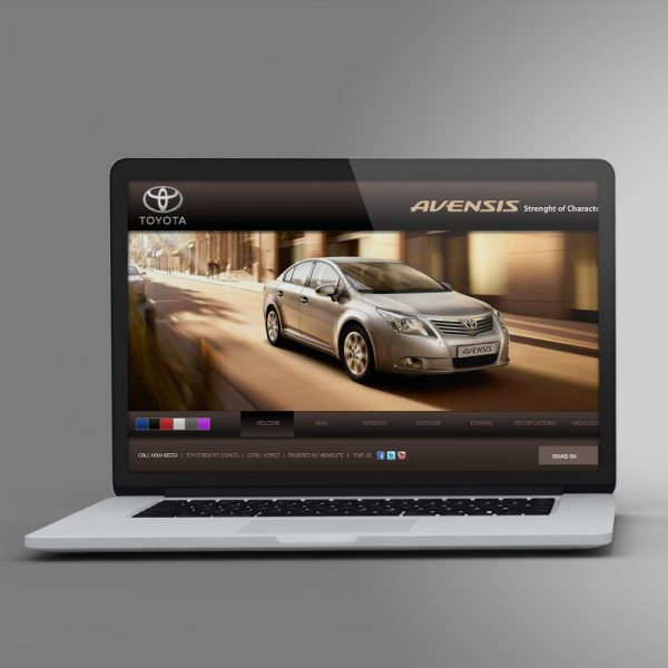 Toyota Avensis Awarded Website Design