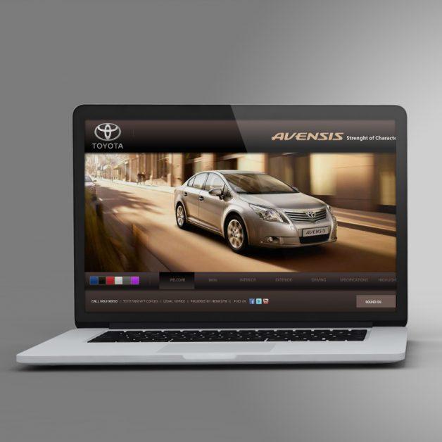 Toyota Avensis Awarded Website Design and Development