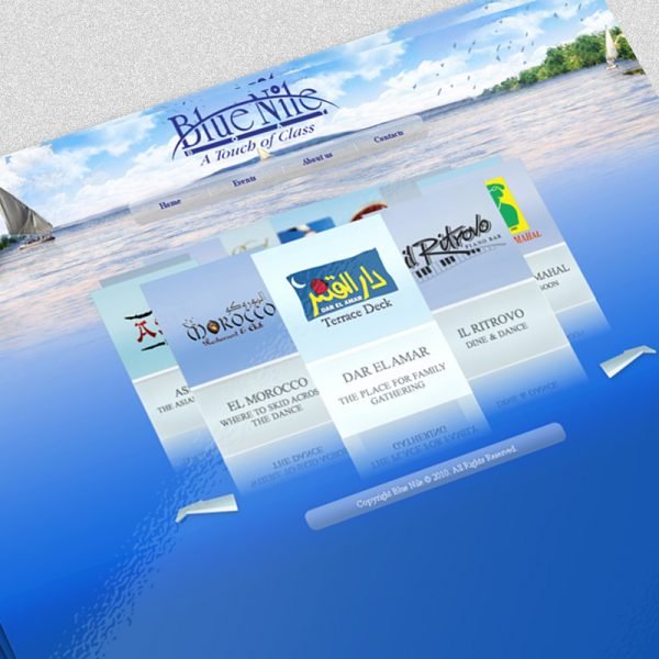 Blue Nile Boat Website Design