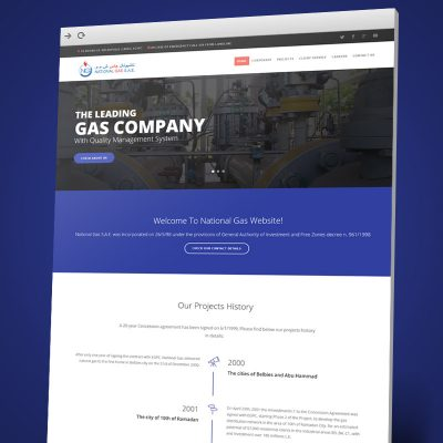 National Gas Website Design, Development, Content Management System