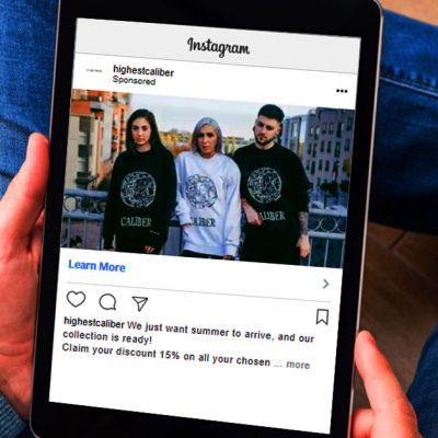 Caliber clothing, Social Marketing and E Marketing