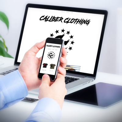 Caliber Clothing, Website Development, along with SEO services