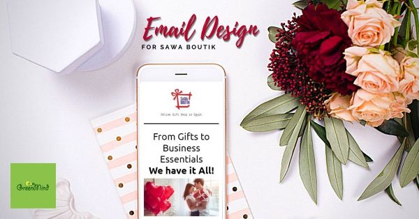 Email marketing design and campaign for Sawa Boutik