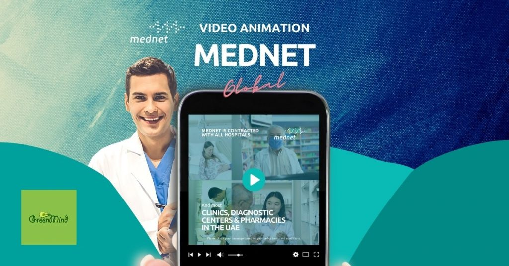 MedNet video animation with content writing