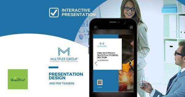 Multiples Group PDF teasers | presentation design